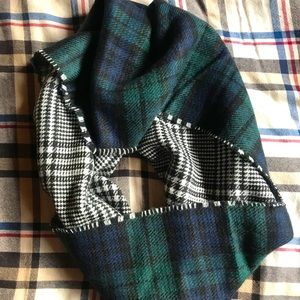 Thrifted Dual Plaid Infinity Scarf